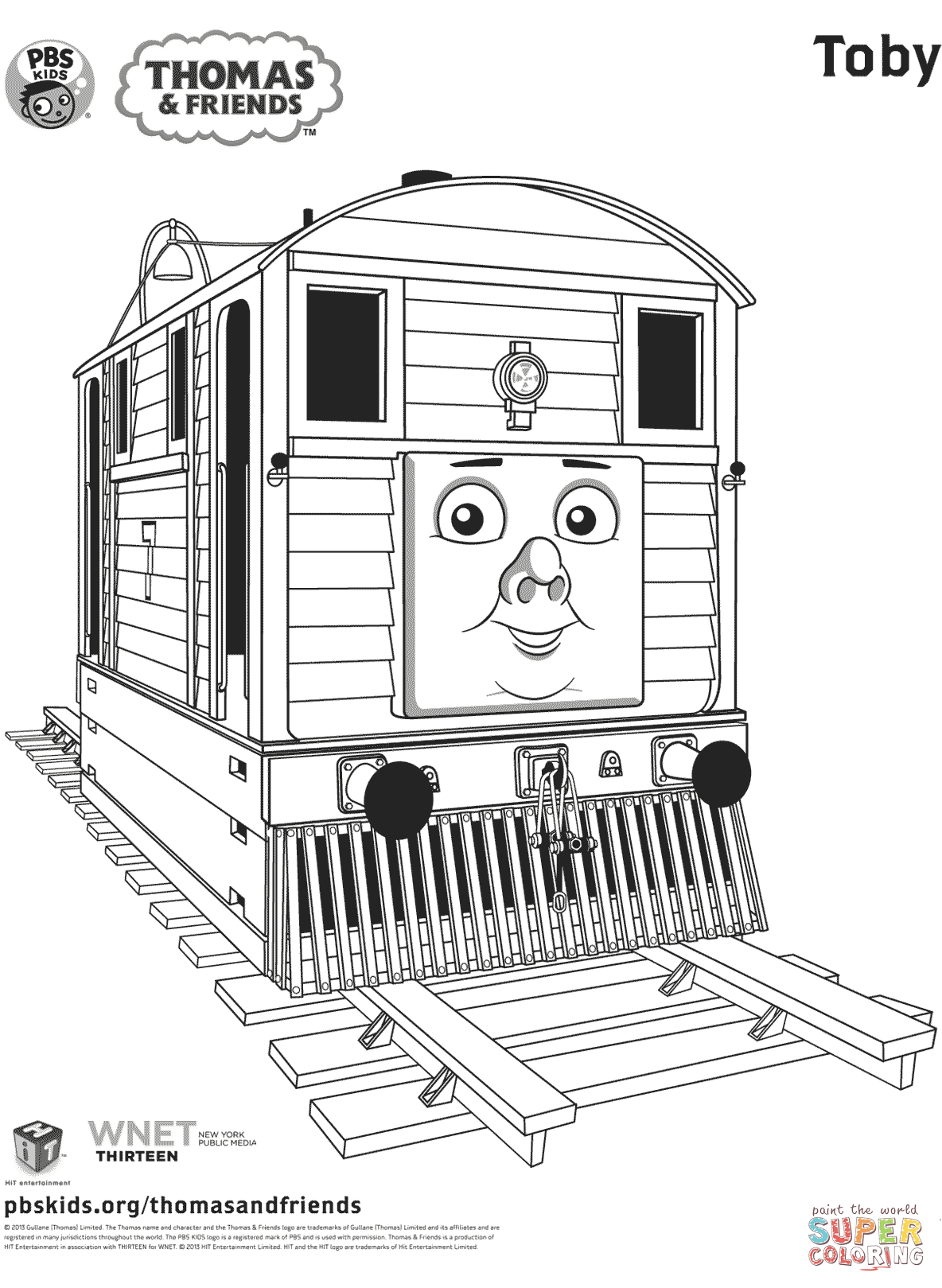 Toby From Thomas Amp Friends Coloring Page