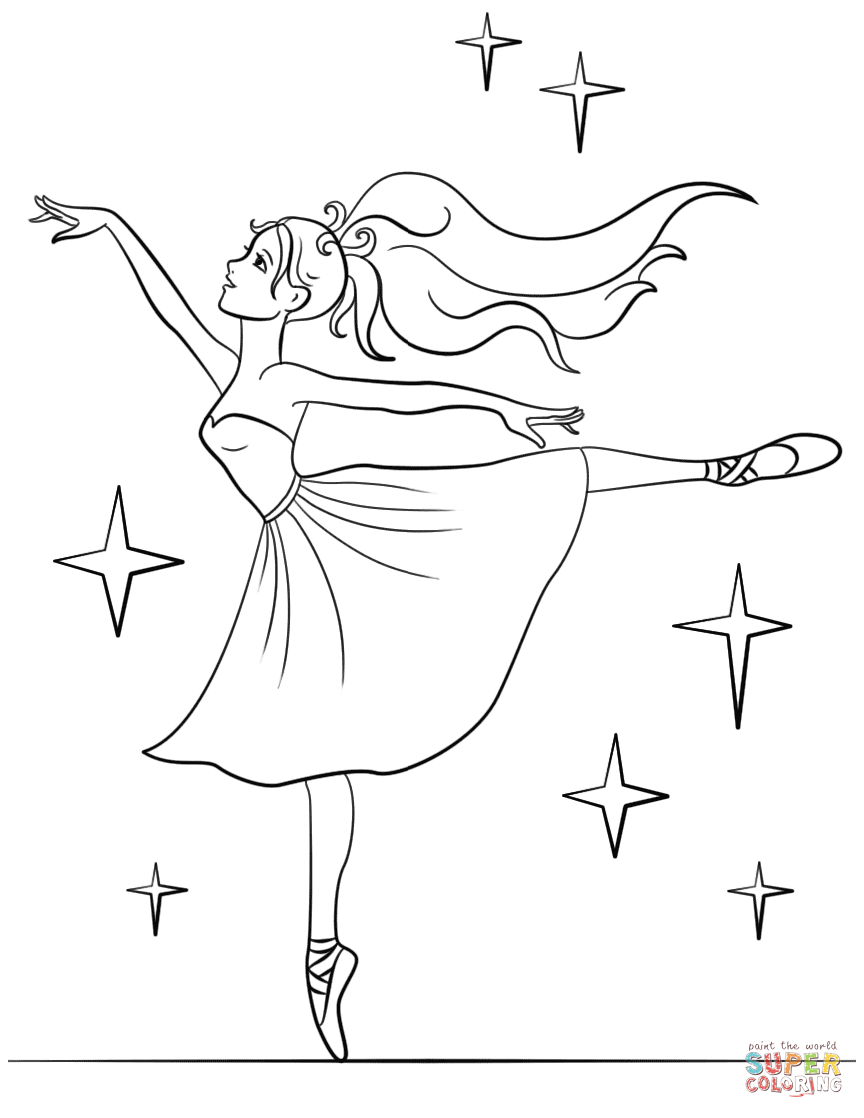 Barbie Ballerina Coloring Page Free Printable Coloring Pages