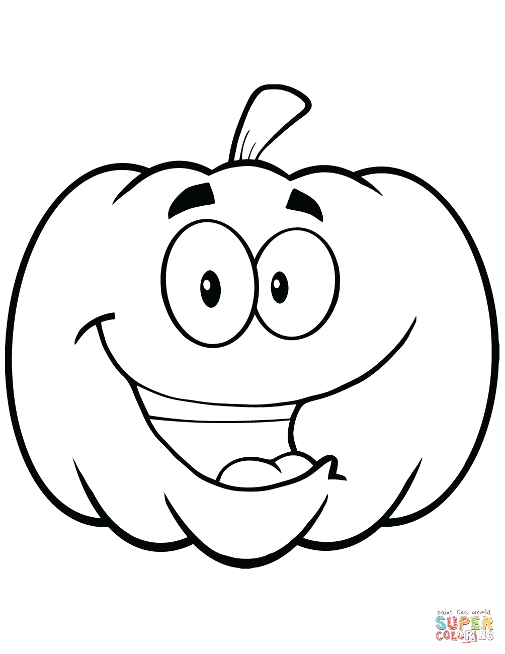 cartoon halloween pumpkin coloring page free printable coloring