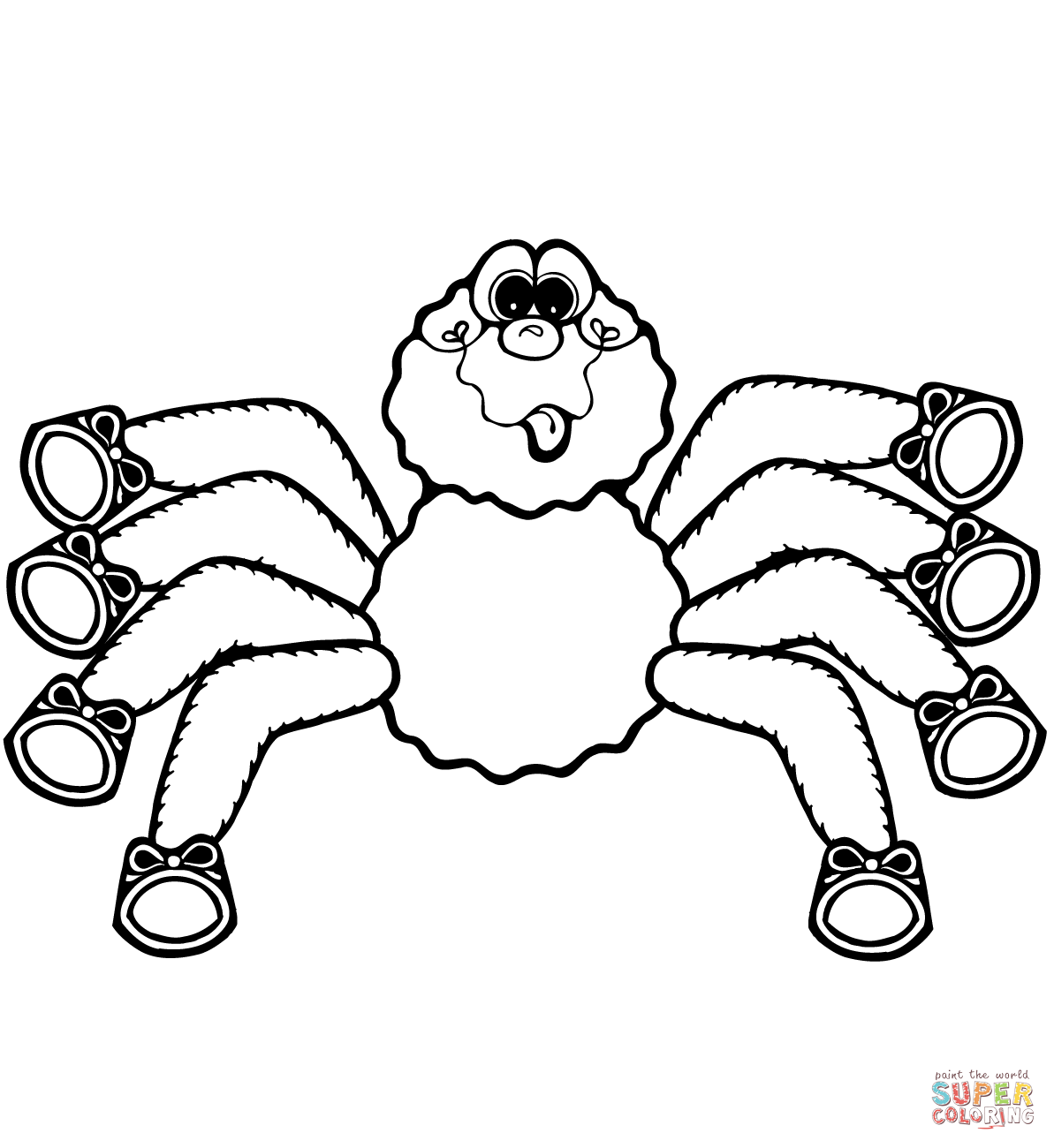 spiders coloring pages free coloring pages