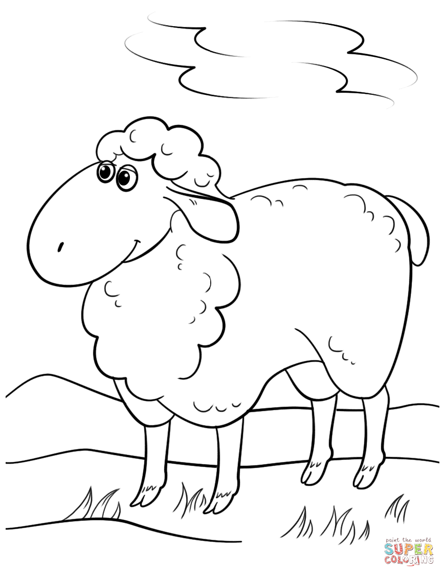 sheep coloring pages free coloring pages