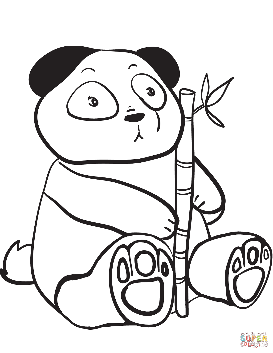 panda coloring page free coloring pages download xsibe baby panda