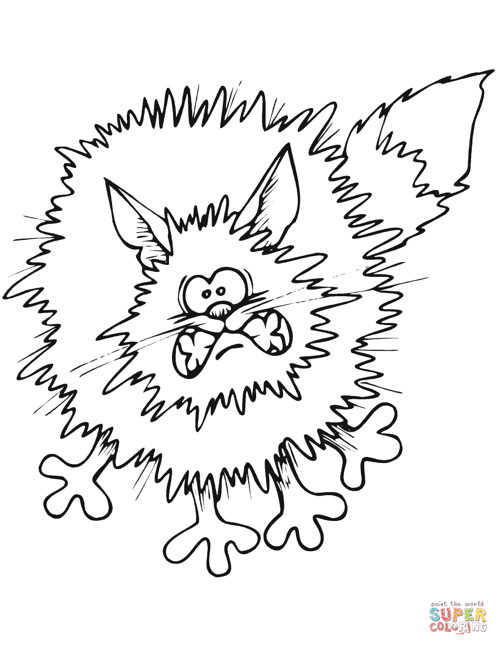 cartoon black cat coloring page free printable coloring pages