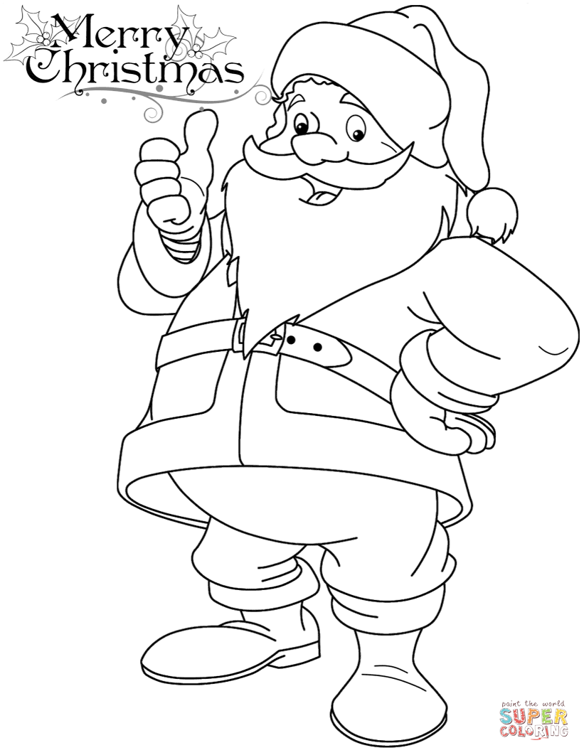 Printable Santa Claus Coloring Pages Free Coloring Pages Download ...