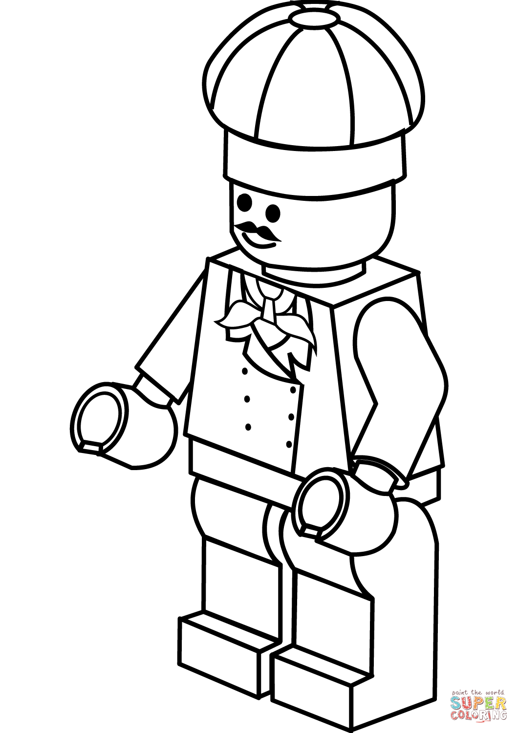 Lego Chef Coloring Page