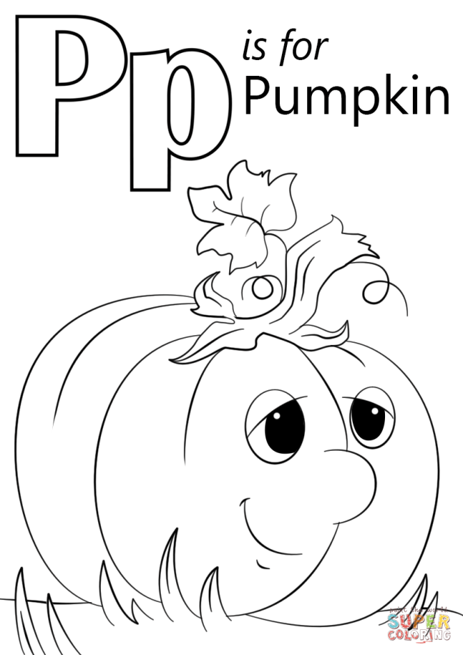 Click The Letter P Is For Pumpkin Coloring Pages