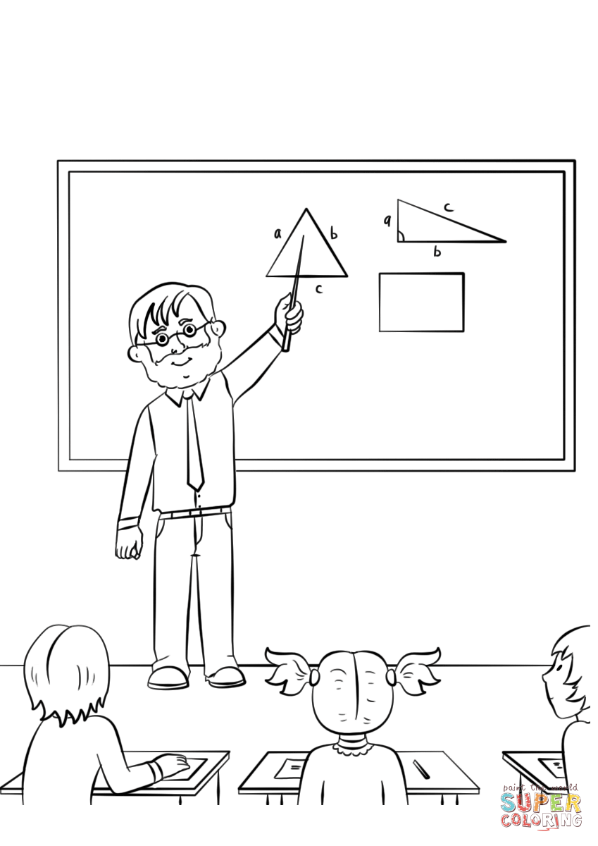 Male Teacher Coloring Page Free Printable Coloring Pages