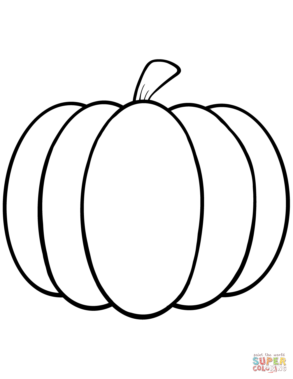 simple pumpkin coloring page free printable coloring pages