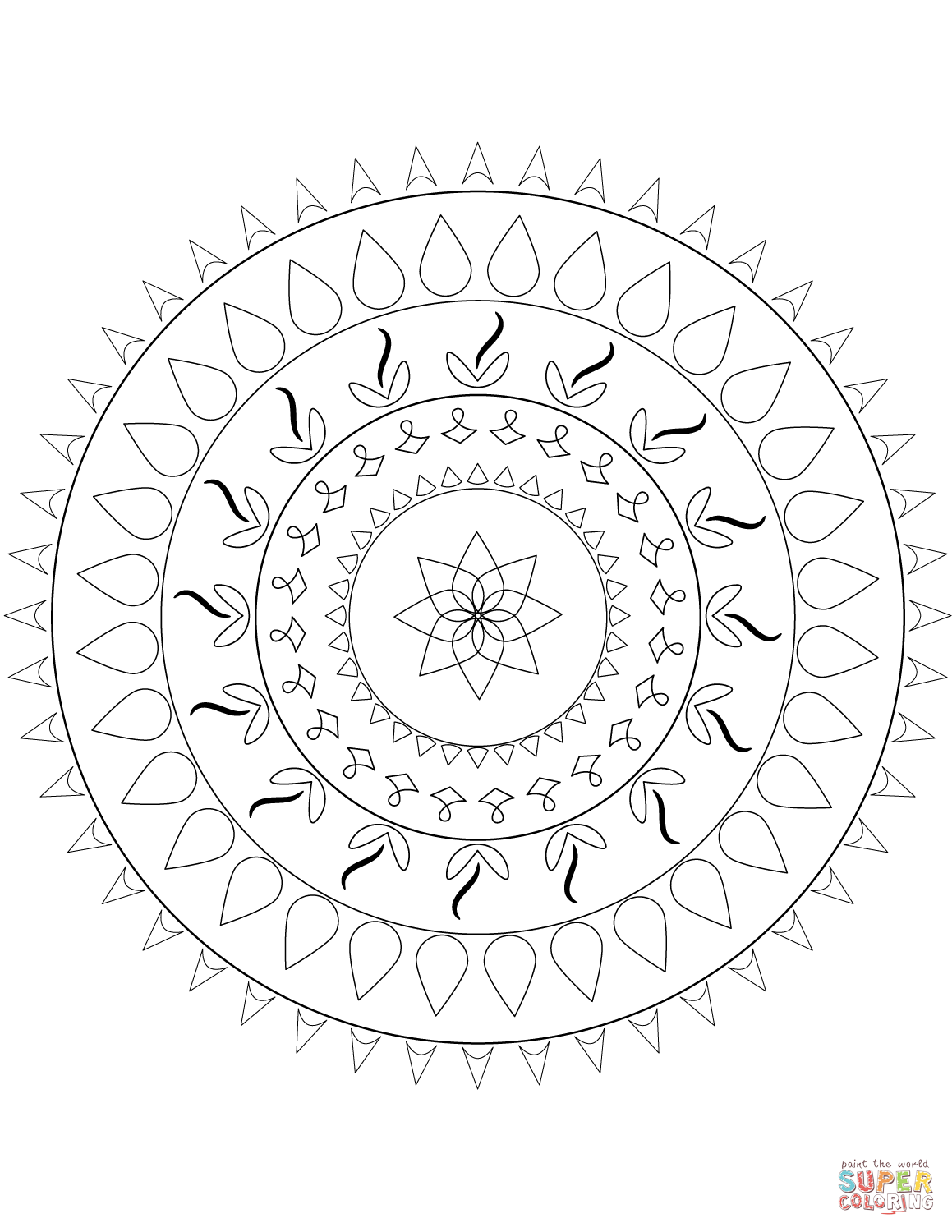 Easy Mandala Coloring Pages Home Sketch Coloring Page