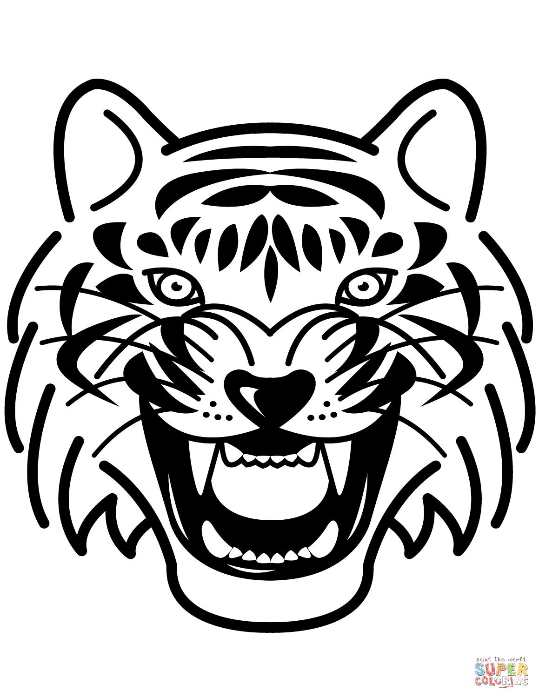 Tiger Portrait Coloring Page