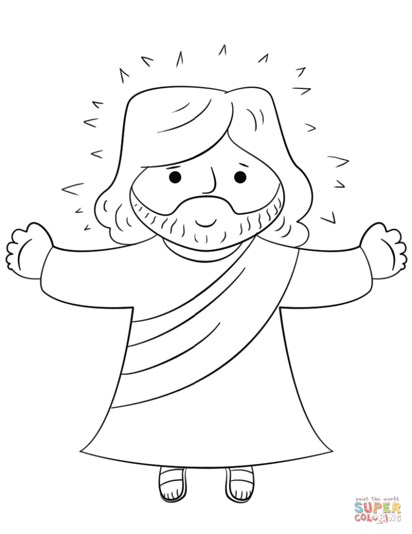 cartoon jesus coloring page | free printable coloring pages