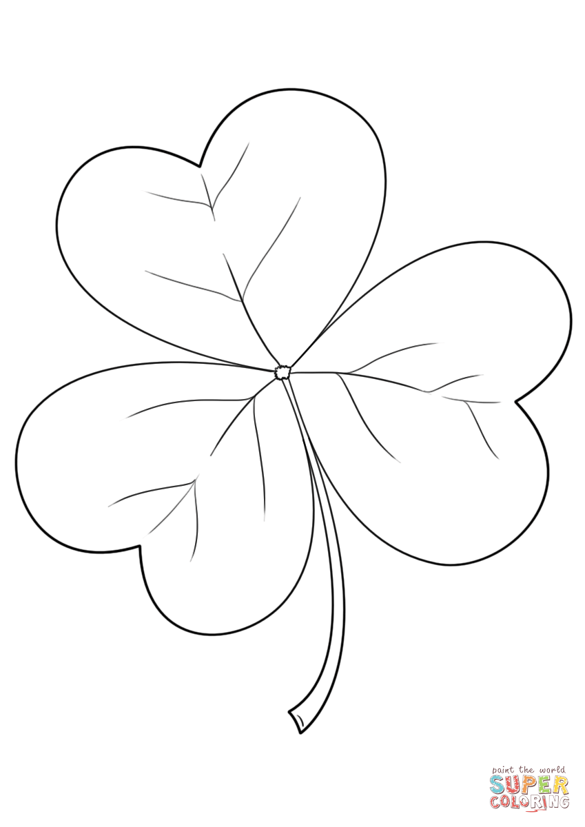 irish shamrock coloring page free printable coloring pages