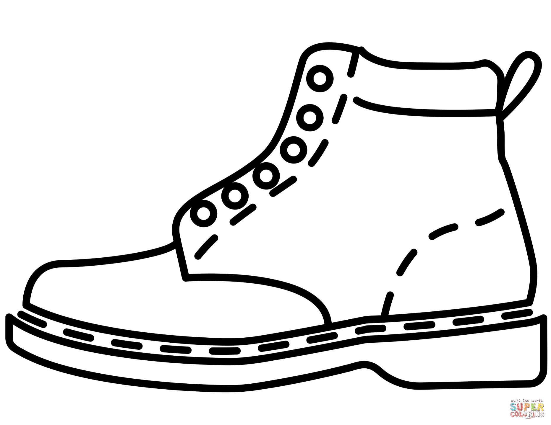 Leather Boot Coloring Page