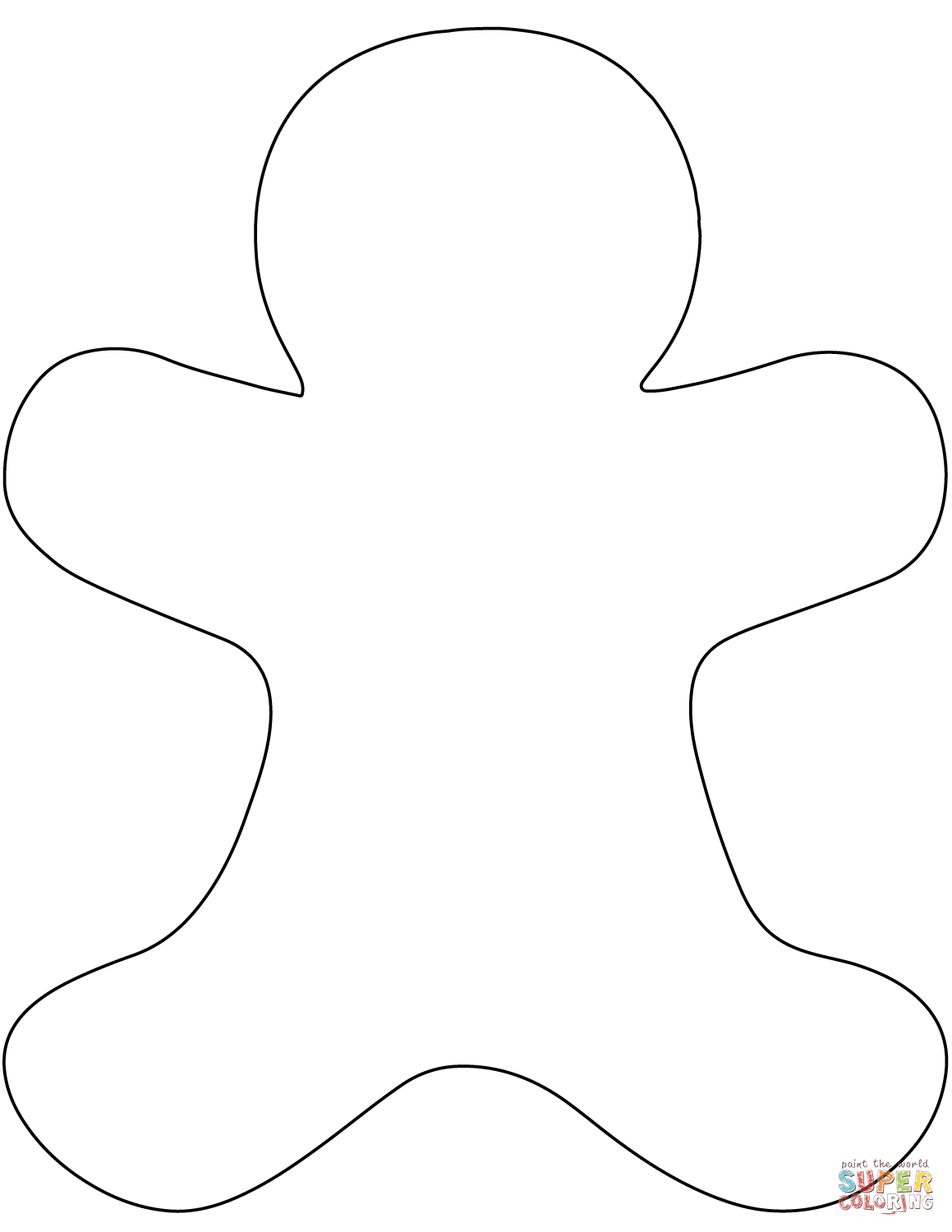 Gingerbread Man Template Printable Large That Are