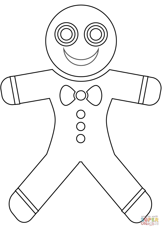Worksheet Gingerbread Man Coloring Page