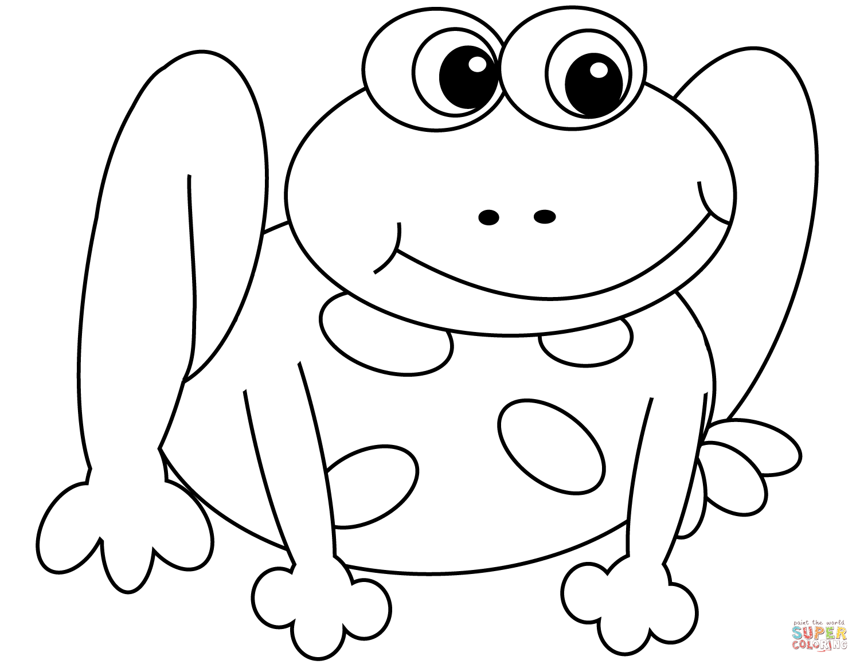 Cartoon Frog Coloring Page