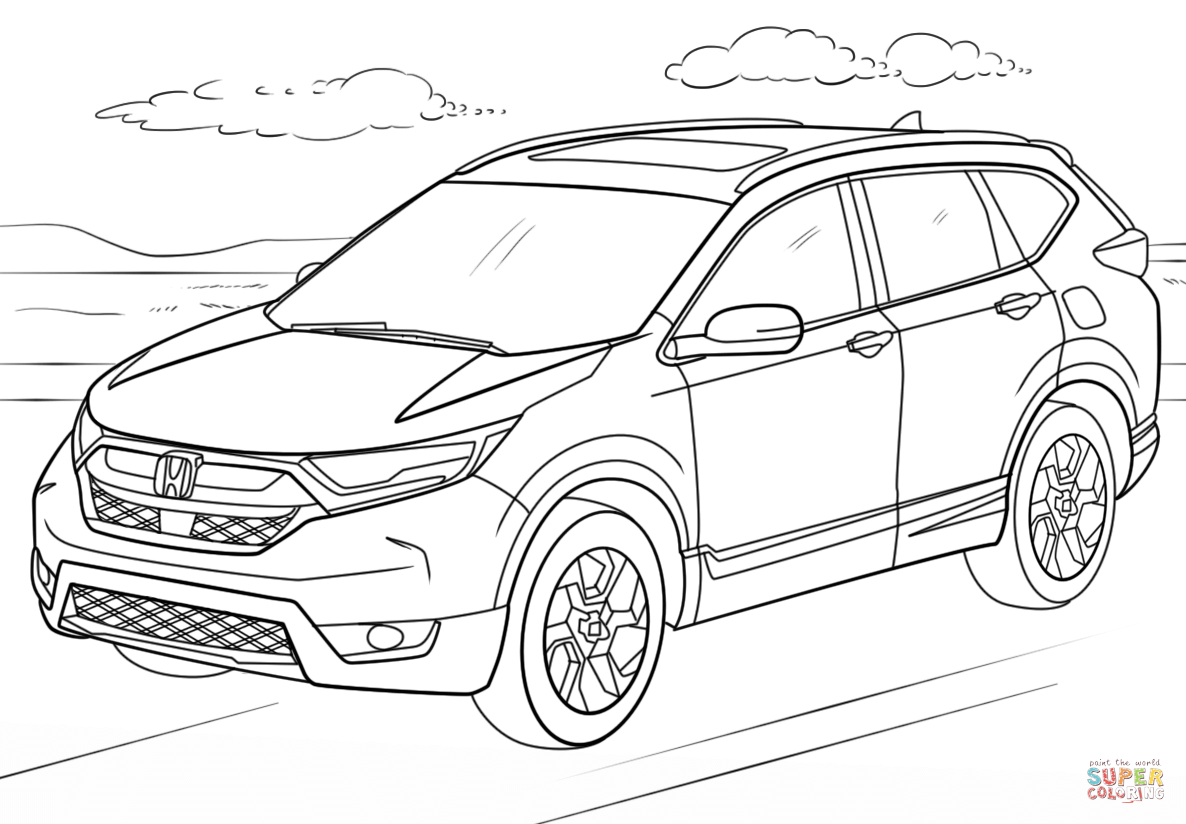 Honda Cr V Coloring Page