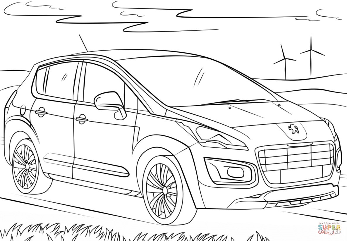 Peugeot Coloring Page