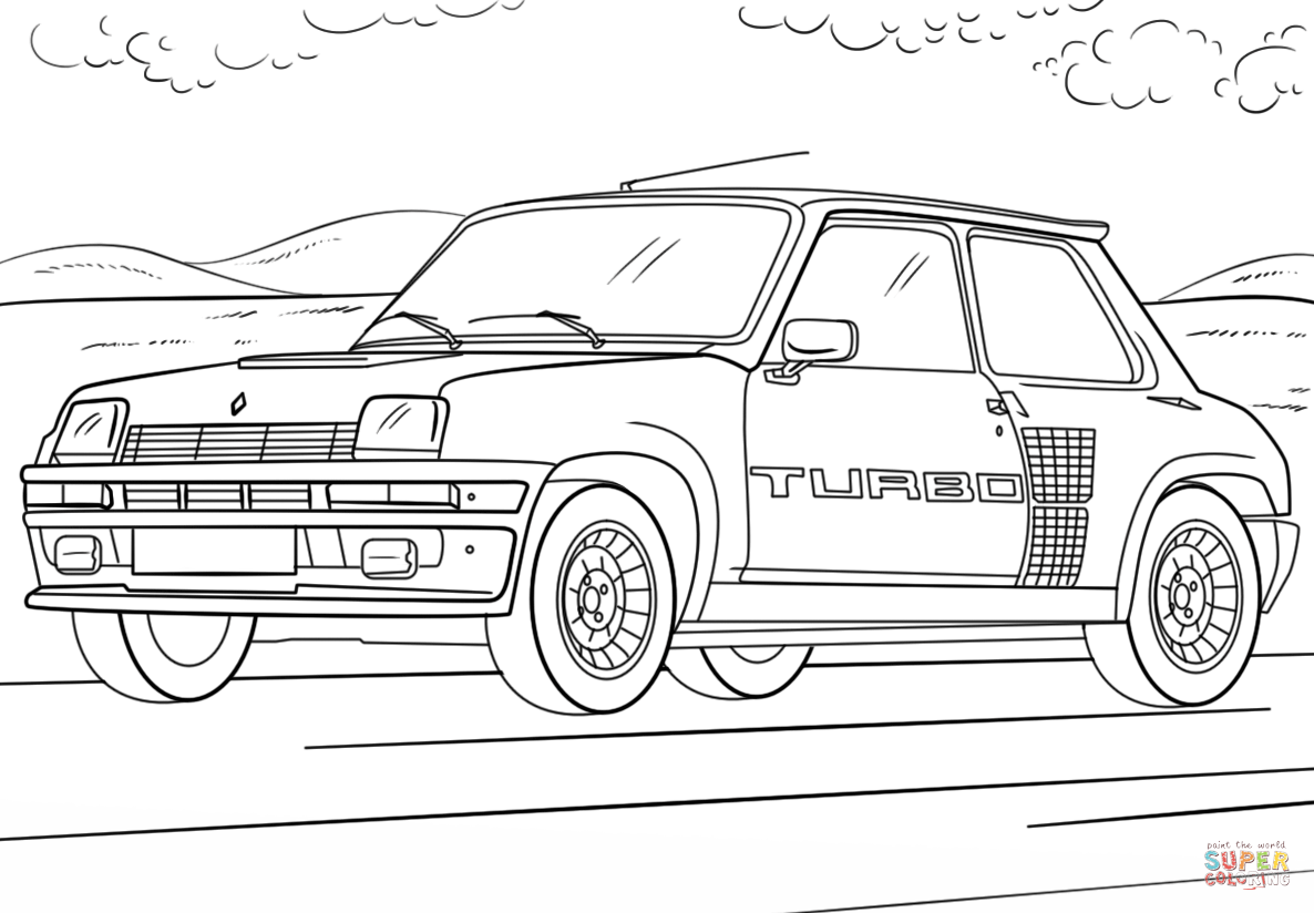 Renault 5 Turbo Coloring Page