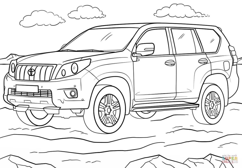 Toyota Land Cruiser Prado Coloring Page