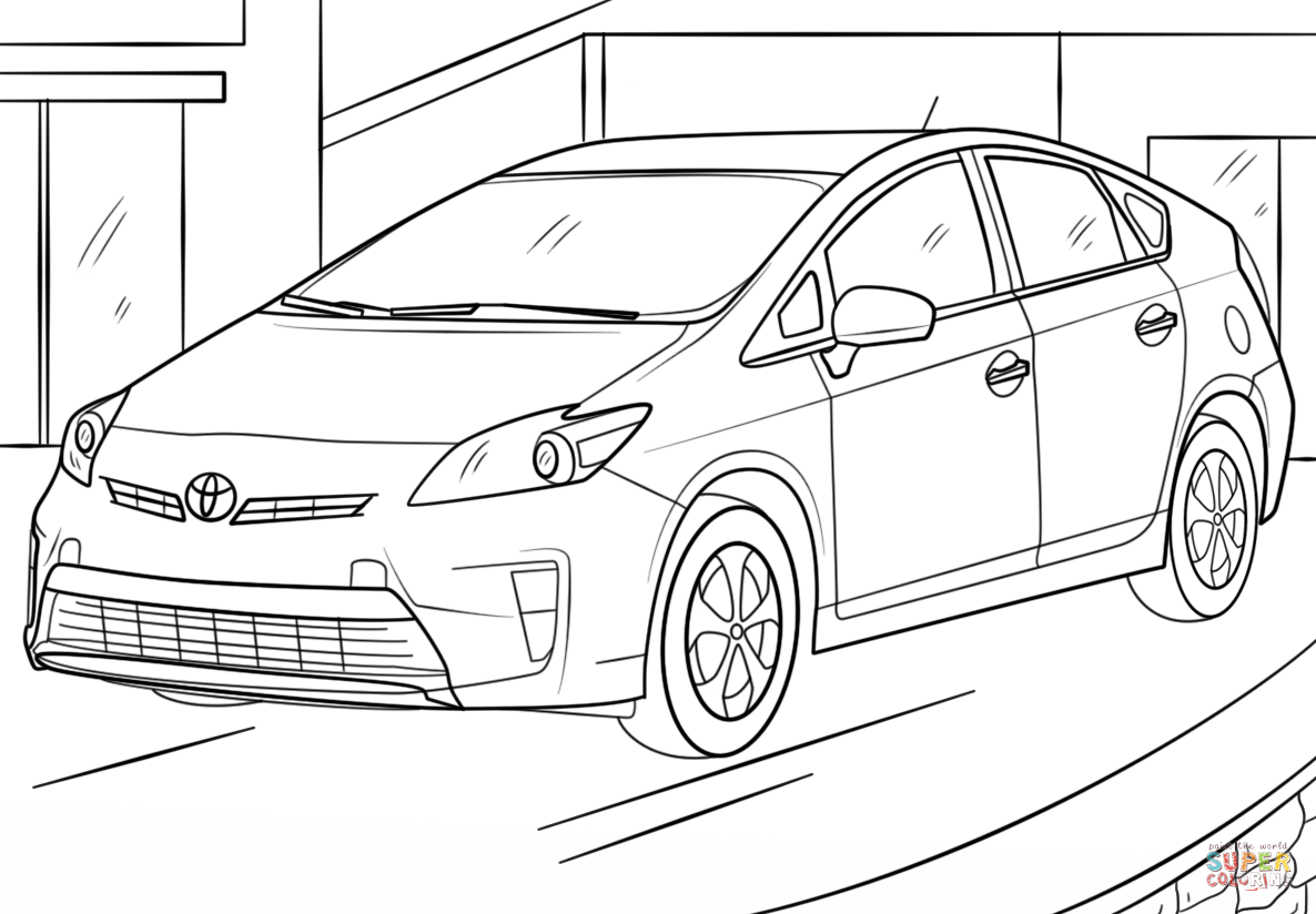 Toyota Prius Coloring Page