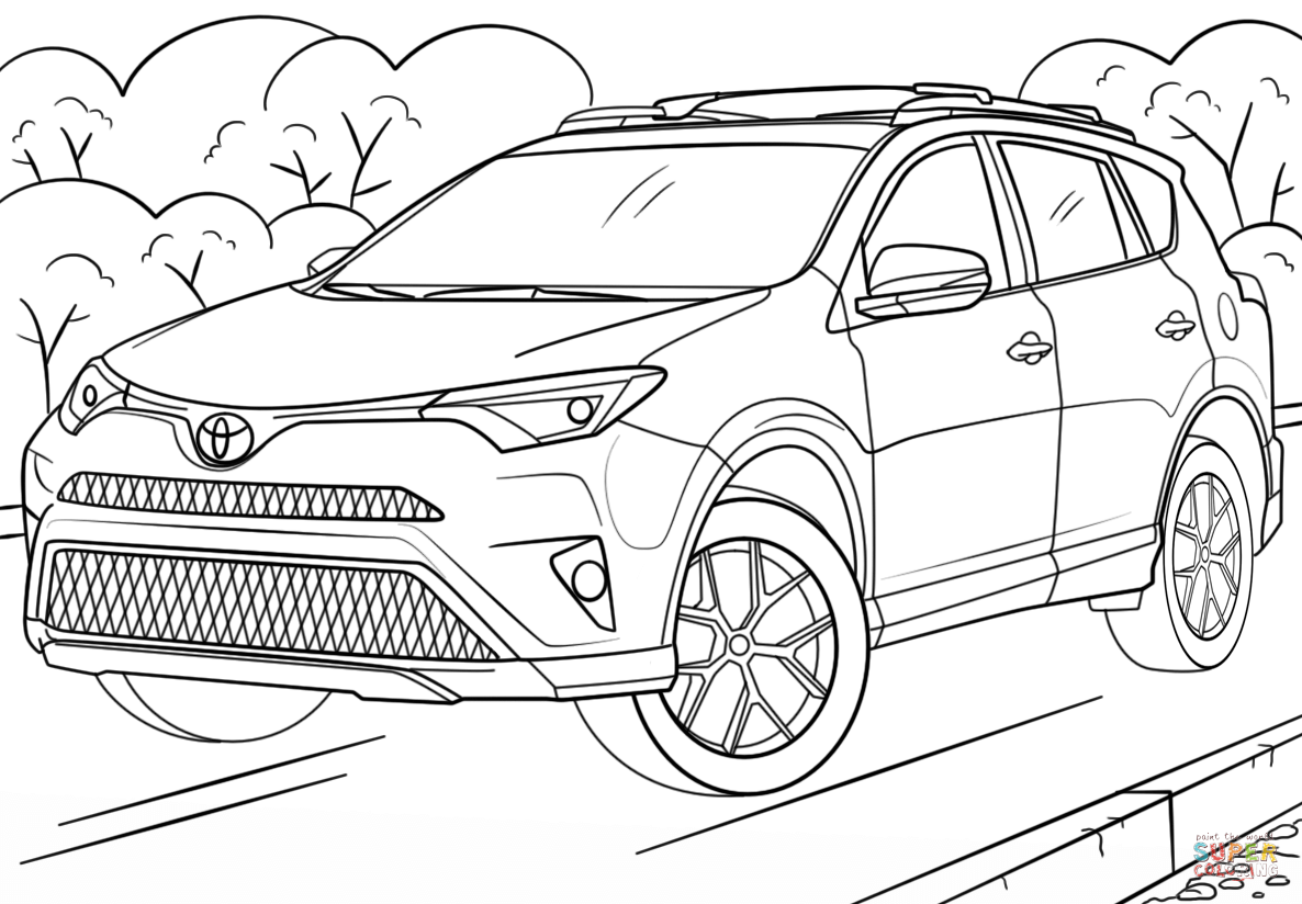 Toyota Rav4 Coloring Page