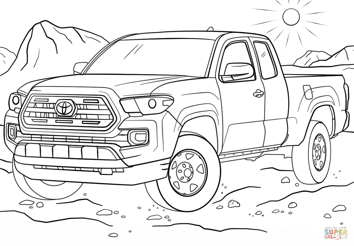 Toyota Tacoma Coloring Page