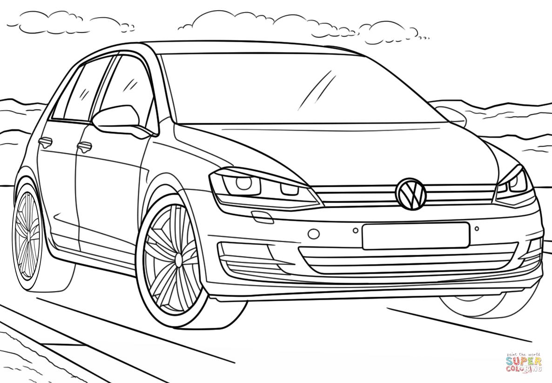 Volkswagen Golf Kleurplaat