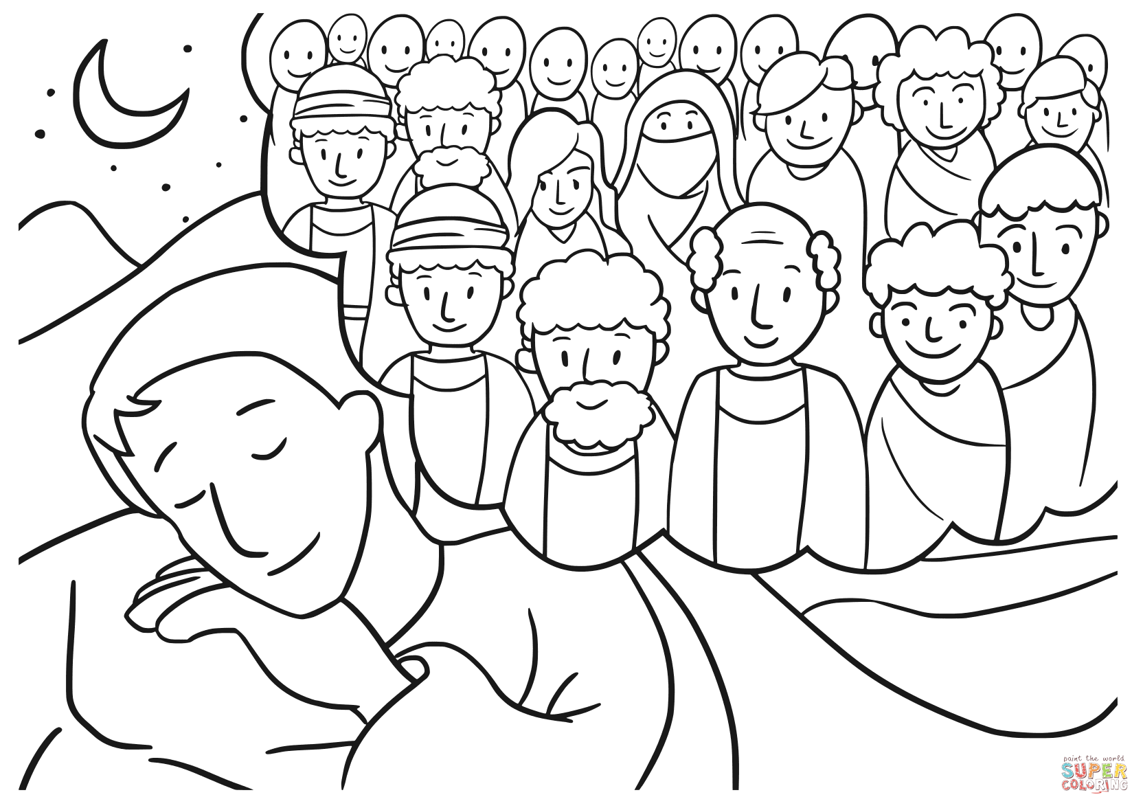 Jacob S Dream Coloring Page