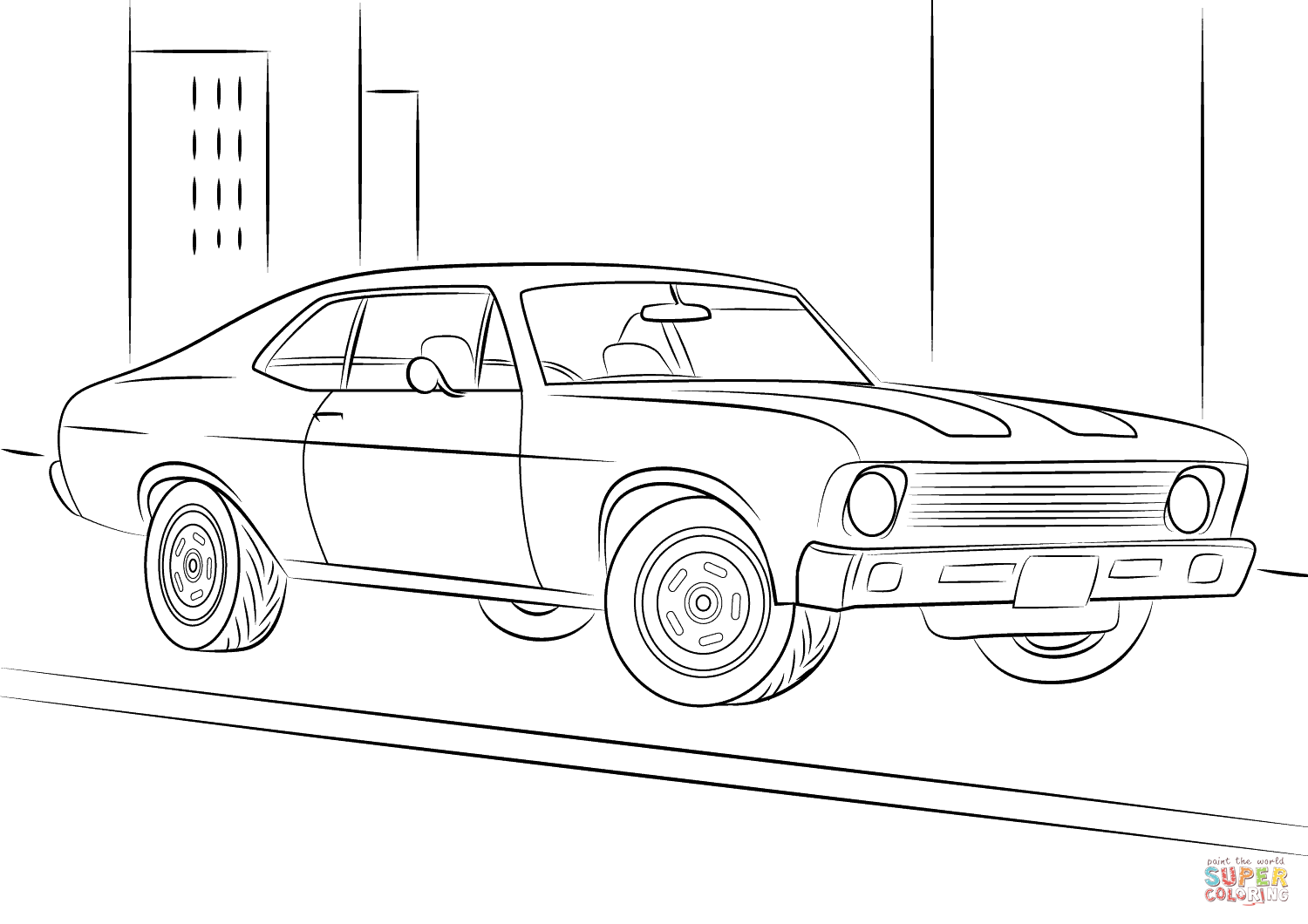 Chevrolet Chevy Ii Nova Coloring Page