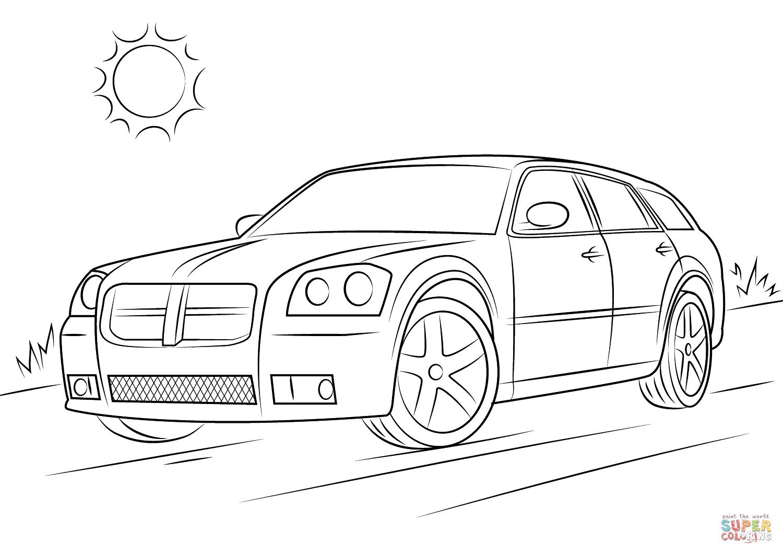 Ausmalbild Dodge Magnum Srt 8