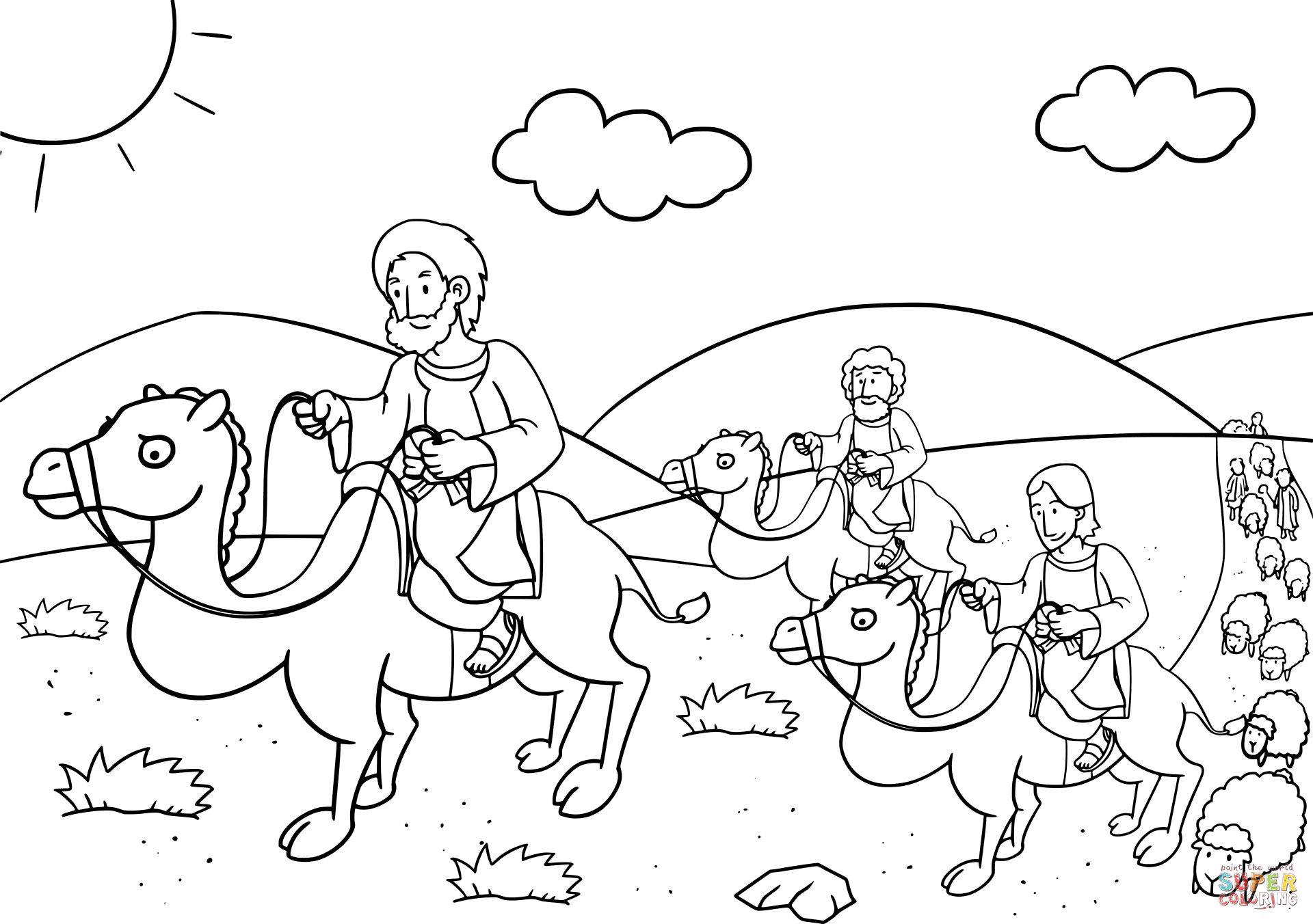Jacob Returns To Bethel Coloring Page