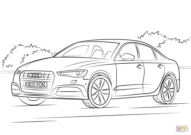 Kolorowanka Audi A6