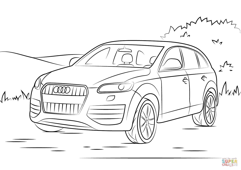 Audi Q7 Coloring Page