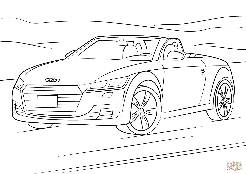 Kolorowanka Audi Tt