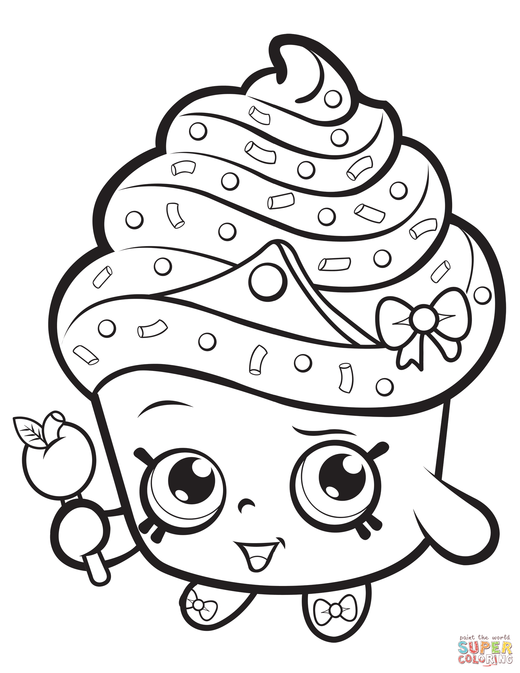 Cupcake Queen Shopkin Coloring Page
