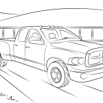 Dodge Ram 5500 Coloring Page Free Printable Coloring Pages
