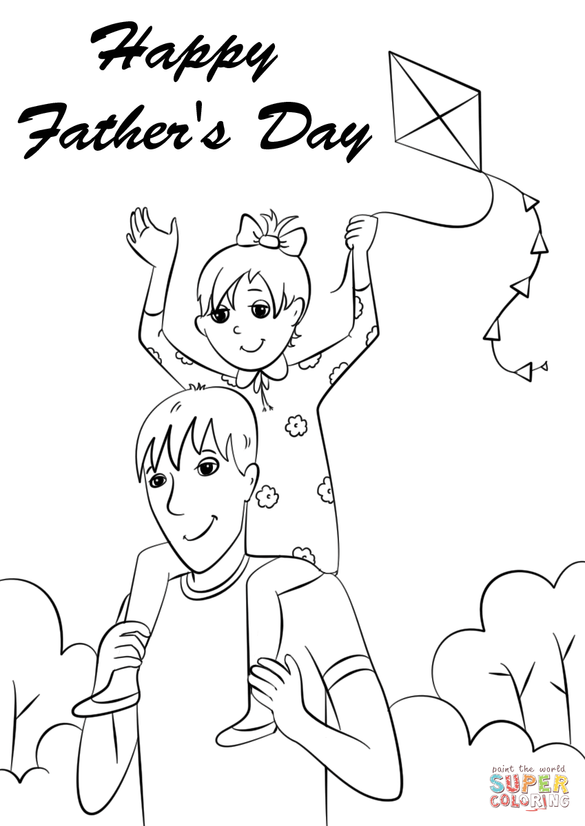 Happy Fathers Day Coloring Page Free Printable Coloring