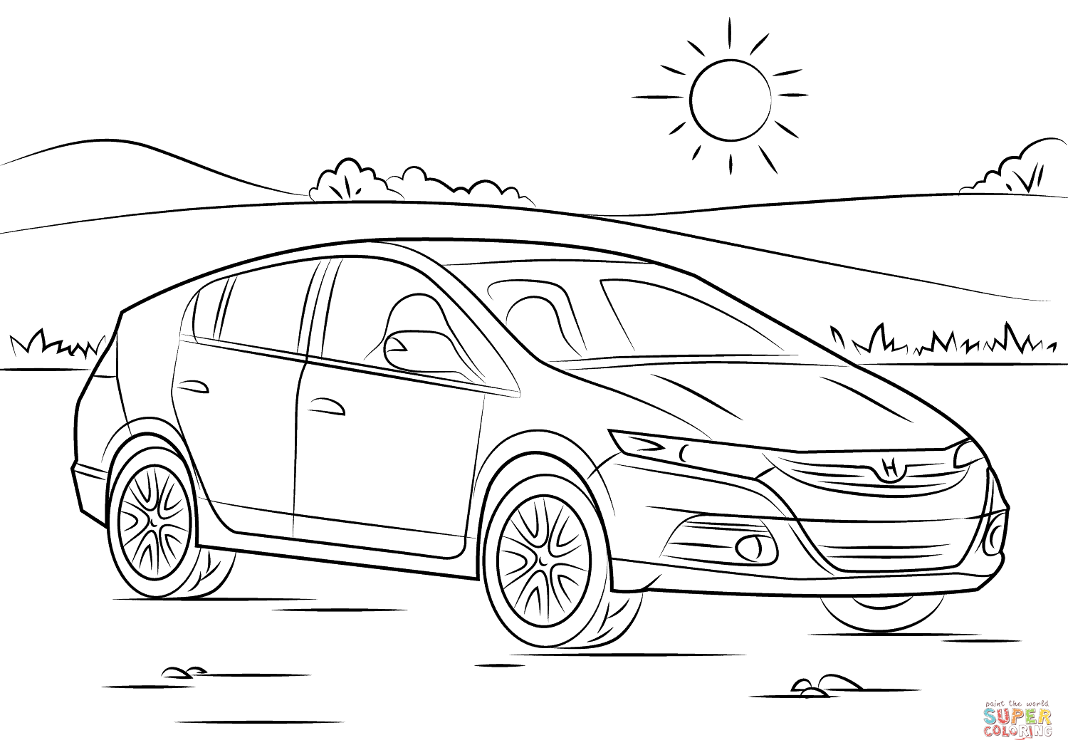 Honda Insight Coloring Page