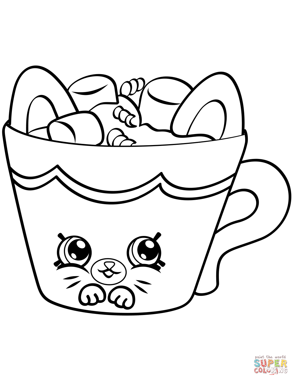 Eggchic Pe Ins Shopkin Coloring Page Free Printable Coloring Pages