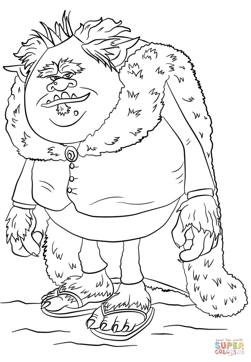 King Gristle From Trolls Coloring Page Free Printable Coloring Pages