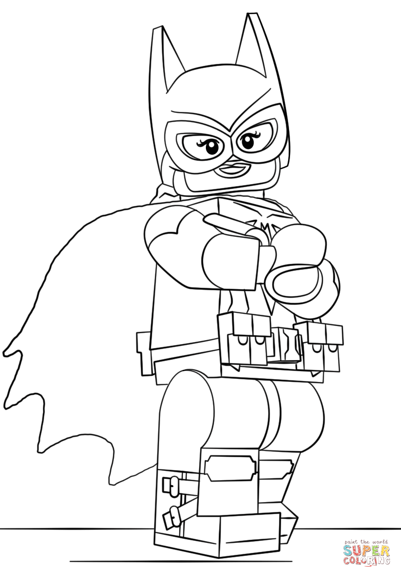 Lego Batgirl Coloring Page Free Printable Coloring Pages