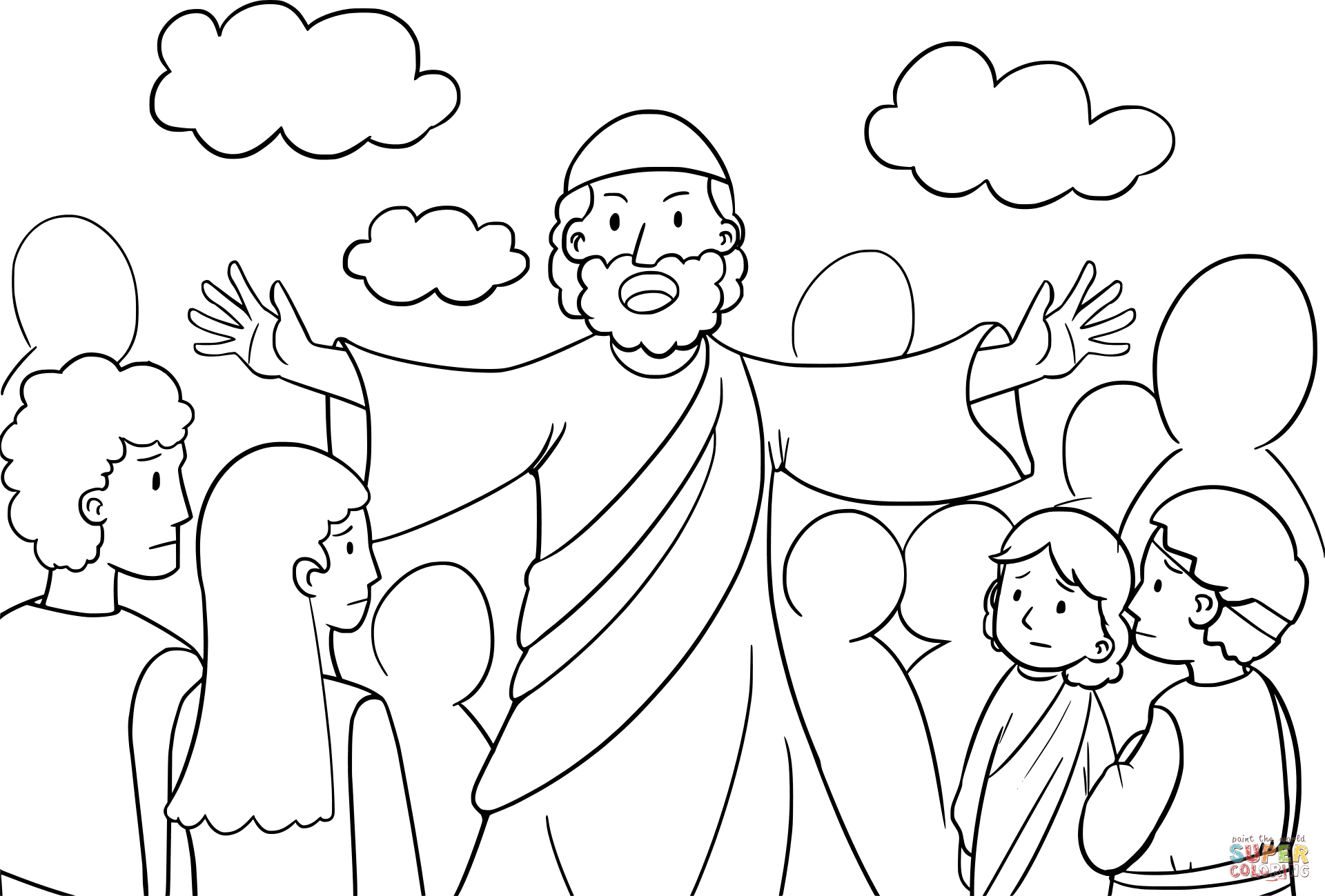 Moses Speaking To The Israelites Coloring Page