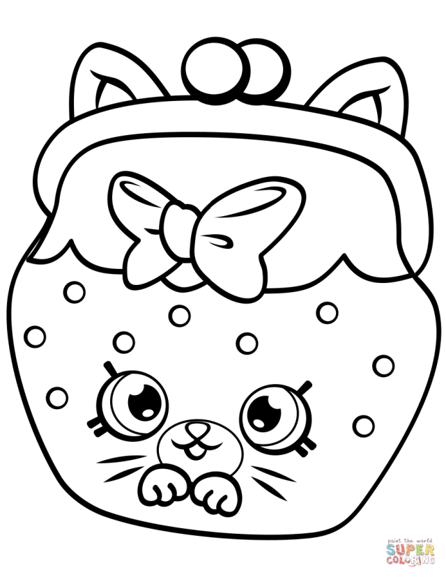 Petkins Cat Snout Shopkin coloring page  Free Printable Coloring
