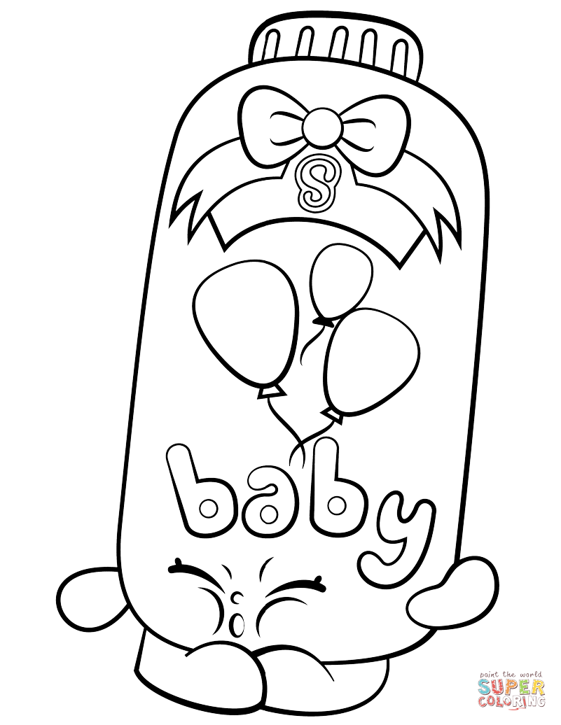 Powder Baby Puff Shopkin Coloring Page Free Printable Coloring Pages