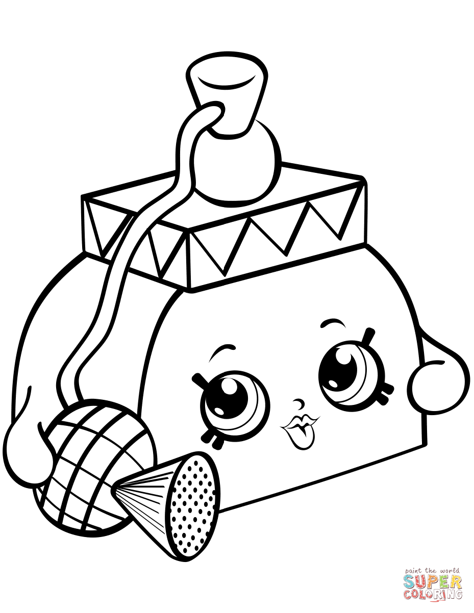 Pretty Puff Shopkin Coloring Page Free Printable Coloring Pages