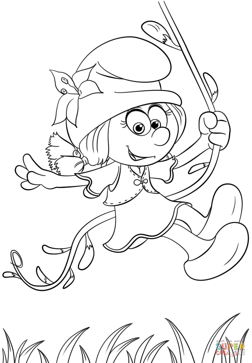 Smurflily From Smurfs The Lost Village Coloring Page Free