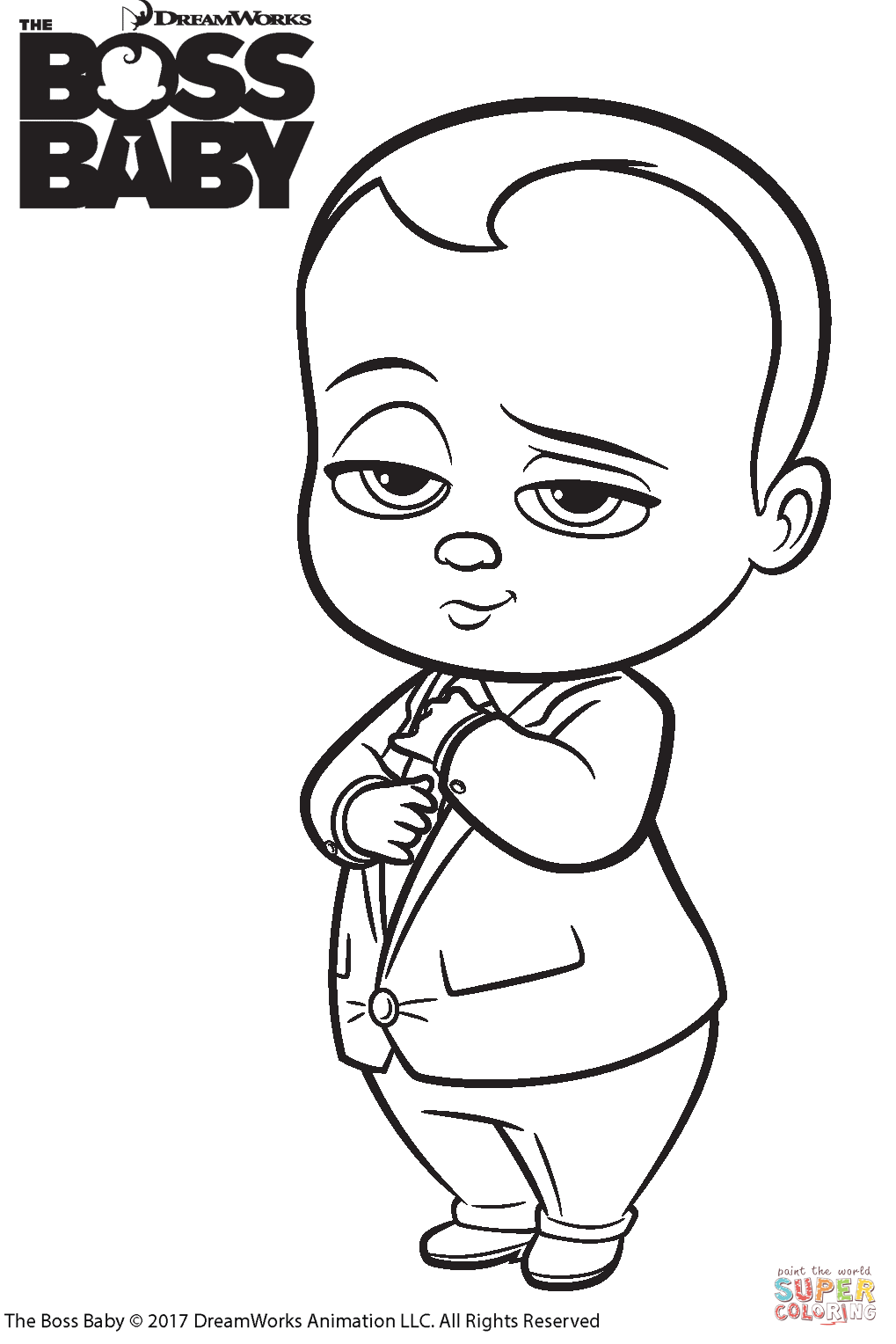 The Boss Baby Coloring Page Free Printable Coloring Pages