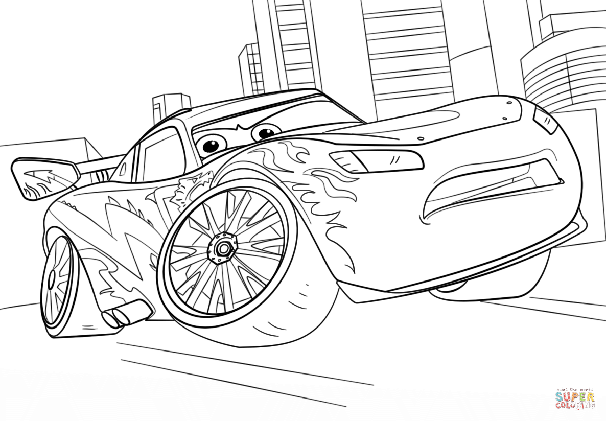 Lightning Mcqueen From Cars 3 Coloring Page