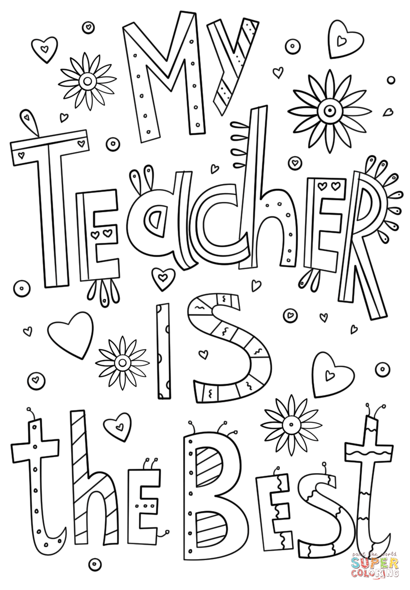 Coloring Pages For Teachers Free Coloring Pages Download | Xsibe ...